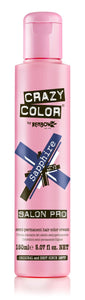 Crazy Color Semi-Permanent Hair Color Cream - Sapphire No. 72 (150ml)