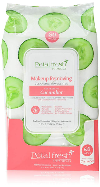 Make-Up Removing Cleansing Towelettes Cucumber (60 Count)