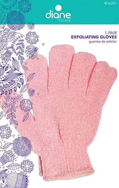 Exfoliating Bath Gloves 1 pair (Pink, White, or Blue)
