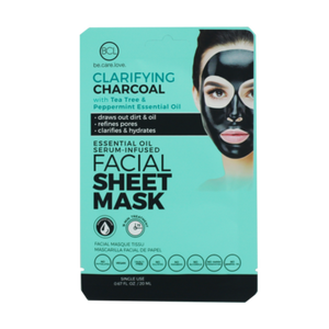 Essential Oil Facial Sheet Mask Charcoal