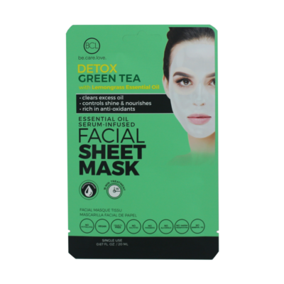 Essential Oil Facial Sheet Mask Green Tea