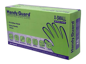 Handy Guard 5.0 mil Nitrile Powder Free Gloves (100/Box)