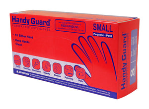 Handy Guard Vinyl Powder Free 3.5 mil Disposable Gloves (100/Box)