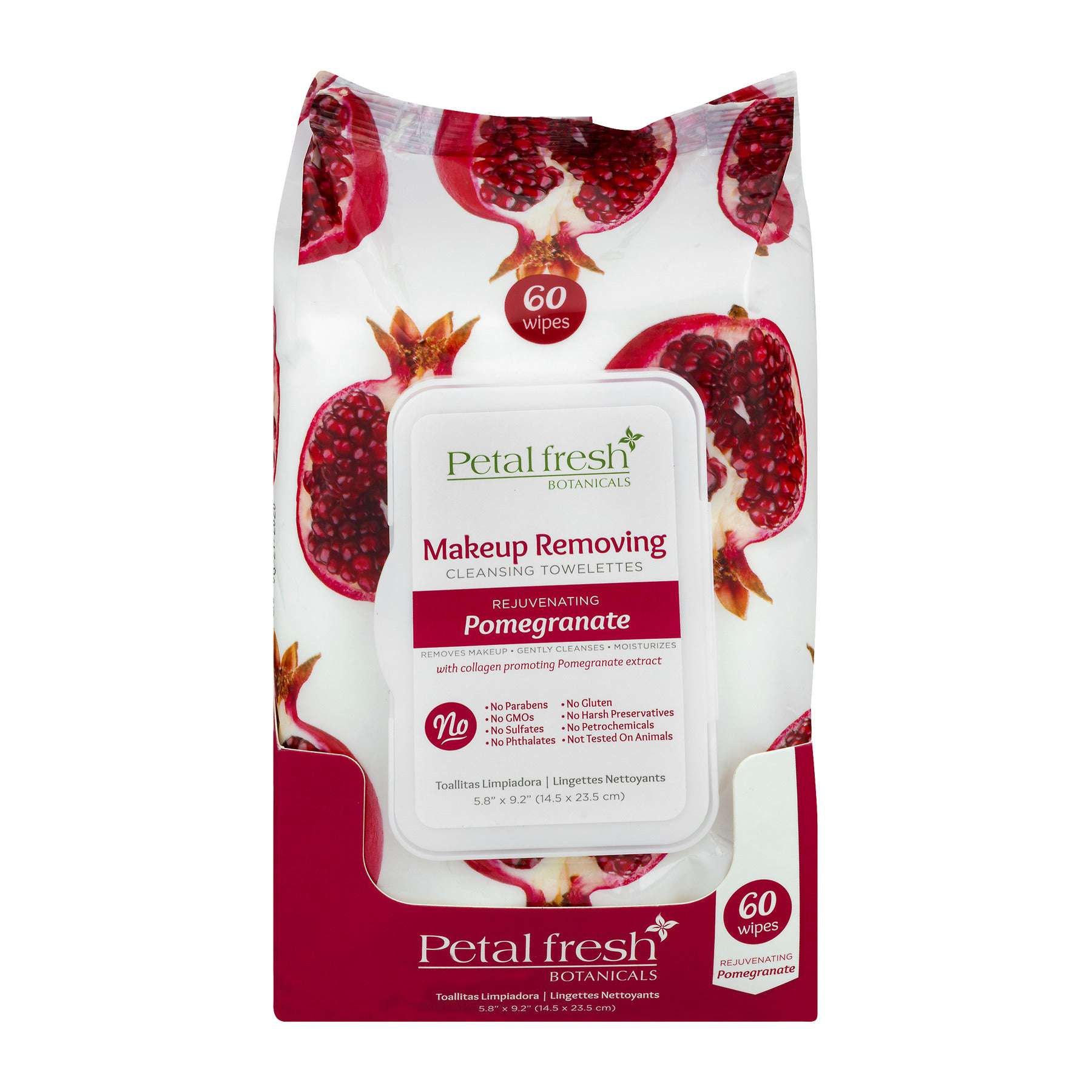Make-Up Removing Cleansing Towelettes Pomegranate (60 Count)