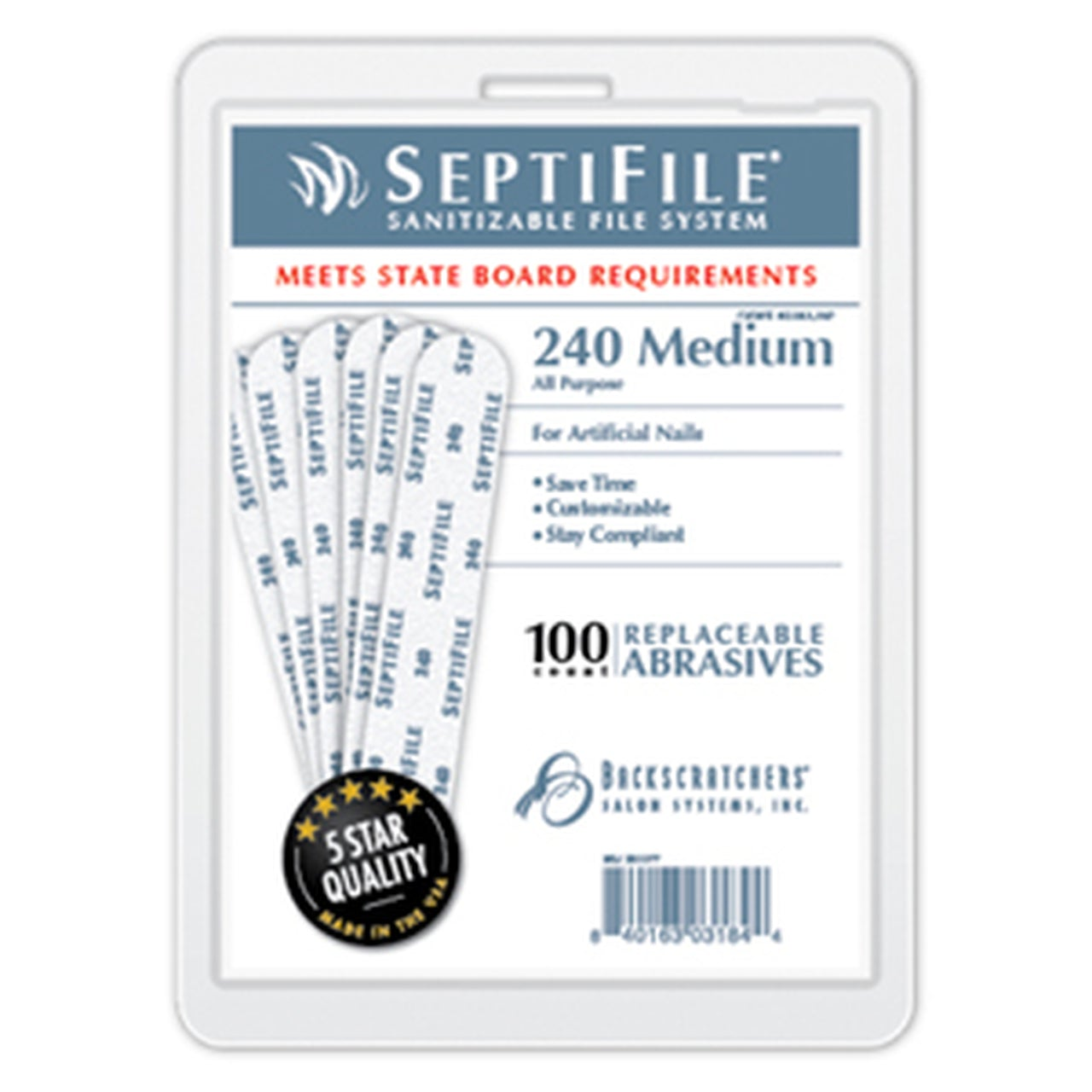 Backscratchers SeptiFile 240 Grit (100 Count)