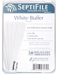 Backscratchers SeptiFile White Buffers (50 Count)