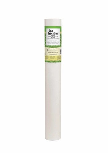 "Spa Essentials Table Paper (21"" x 125') Perforated White Roll"