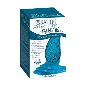 Satin Smooth Titanium Blue Thin Film Pebble Wax (35 Oz)