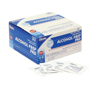 Dukal Alcohol Prep Pad, Medium, 2 ply, 70% isopropyl alcohol