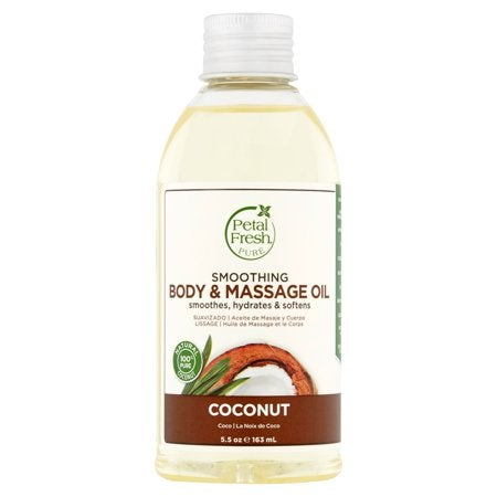 Petal Fresh Pure Coconut Smoothing Body & Massage Oil, 5.5 oz