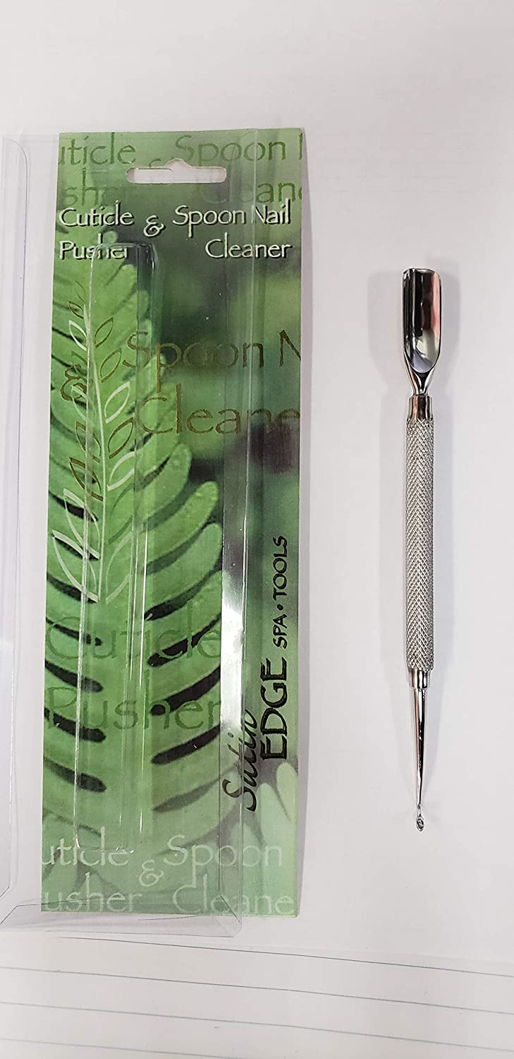 Satin Edge Cuticle Pusher & Spoon Nail Cleaner