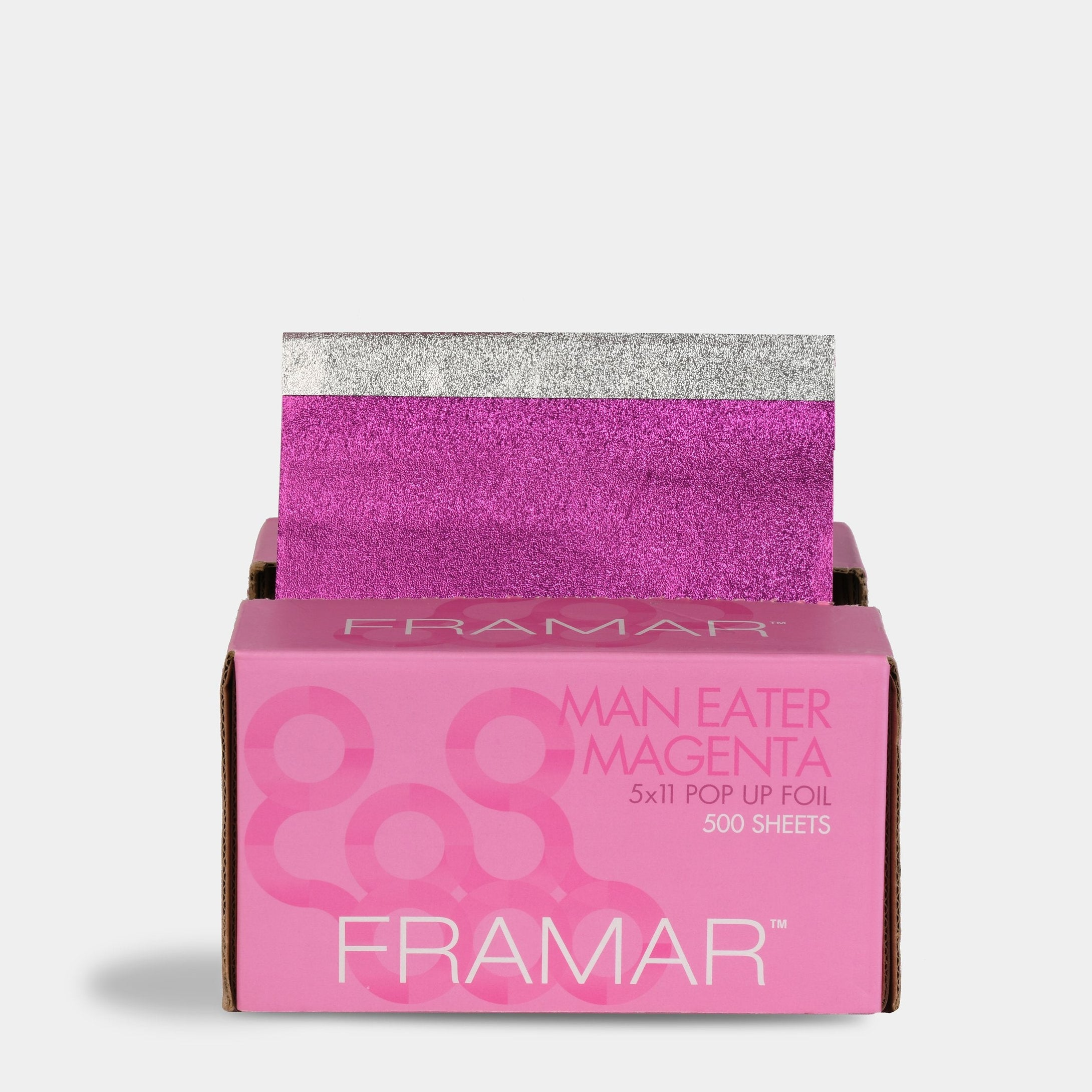 Framar 5 x 11 Pop Ups Man-Eater Magenta Pop Up Foils (500 Sheets)
