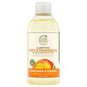 Petal Fresh Pure Mandarin & Mango Clarifying Body & Massage Oil, 5.5 oz