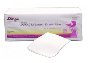 "DUKAL Reflections™ 100% Cotton Non Woven Esthetic Wipe, 3""x3"""