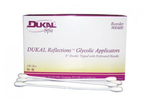 "Dukal Reflections™ Glycolic Applicators, 8"", Dual Tip"