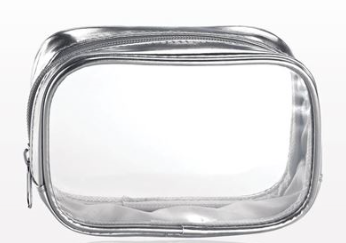 Silver Clear Cosmetic Bag