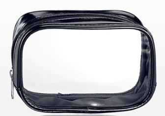 Black Metallic Cosmetic Bag