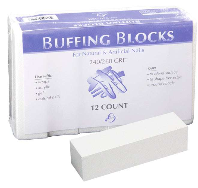 Backscratchers White Block Buffers (12 Count)