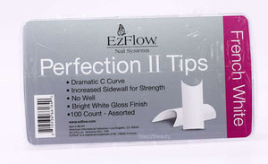 EzFlow Perfection II Tips - French White- 100ct