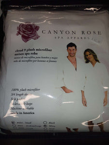 Canyon Rose Cloud 9 Microfiber Unisex Spa Robe (Small size)