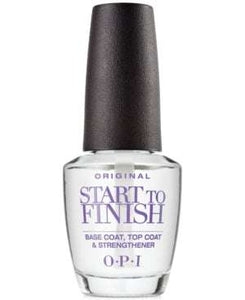 OPI Start to Finish Original Formula - Base coat, Top coat & Strengthener 0.5 oz