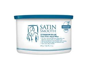 Satin Smooth Titanium Blue Thin Film Hard Wax (14 Oz)