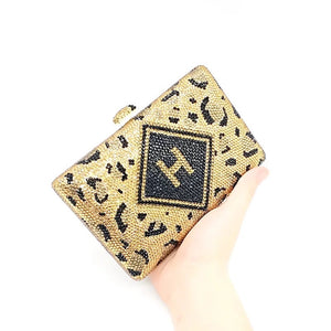 Signature Bling Initial Clutch