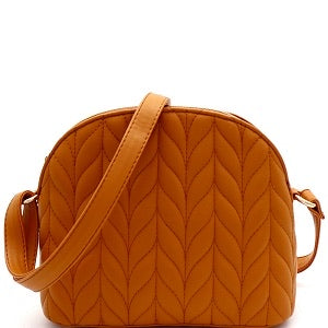"""Harper"" Suede Chevron Messenger Bag"