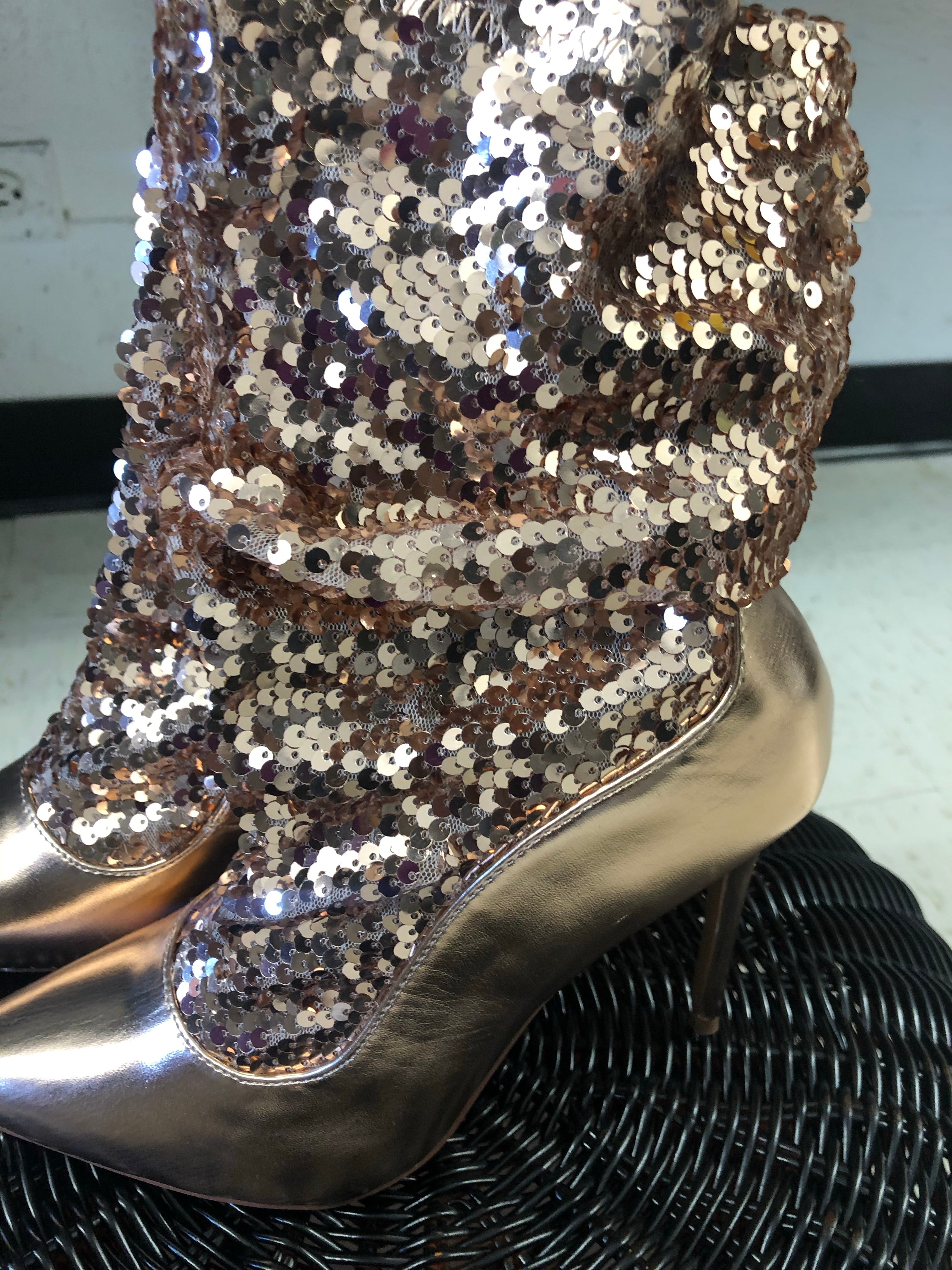 Sequins and Weekends Heels