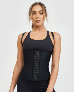 Core Trainer Vest With Adjustable Straps - Black - OzMe.com.au