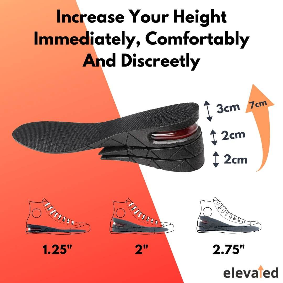 "Height Increasing Elevator Insoles (2.75"")"