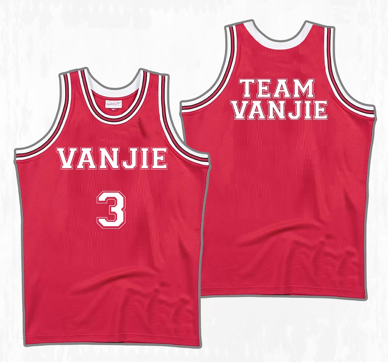 """TEAM VANJIE"" Oversized Jersey"