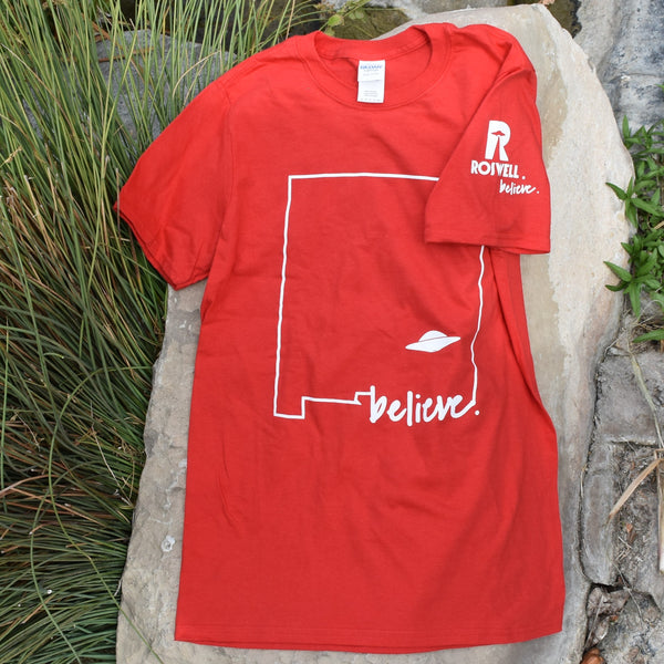 Crashed in Roswell, NM Red T-Shirt
