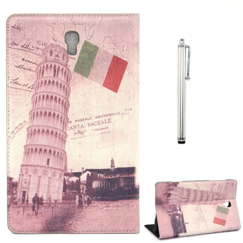 "Apexel Leather Protective Case Cover with Stylus Pen for 8.4"" Samsung Galaxy Tab S Leaning Tower of Pisa"