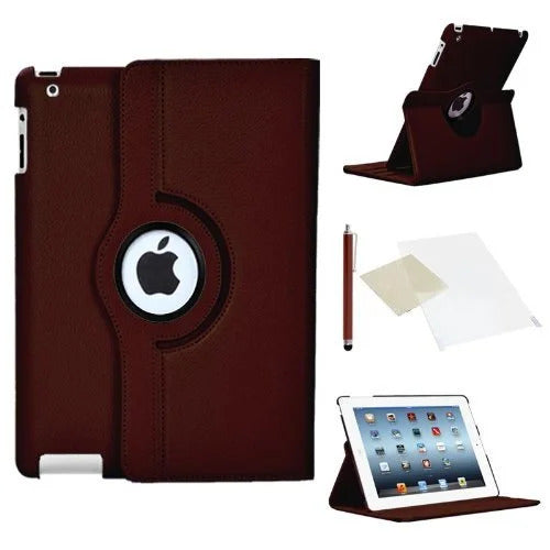 Stuff4 360 Degrees Rotatable Tablet case for Apple iPad Mini / Mini Retina, Screen Protector and Stylus Touch Pen