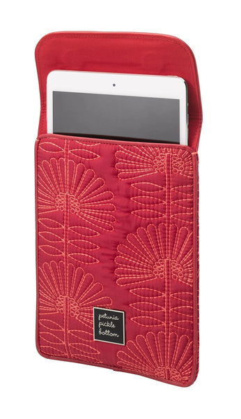 Petunia Pickle Bottom Sleeve case for iPad Mini, Design Stowaway Notting Hill Stop, Pink