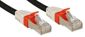 Lindy Cat.6 (A) SSTP / S / FTP PIMF Premium 1m Black networking cable (1m, RJ-45, RJ-45, Black)