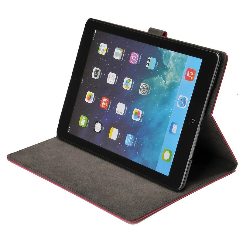 Apexel - Protective cover for Apple iPad Air / iPad 5, made of PU leather, with stand function, black pink rose