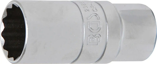 "Spark Plug Socket with Rubber Mount, Silver, 1/2""inch 21 mm"