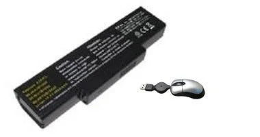 Amsahr F3 Replacement Battery for ASUS F3 - Includes Mini Optical Mouse