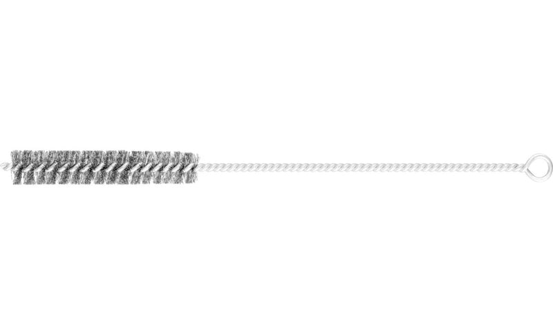 Steel wire tube brush with eyelet - 300 x 18 mm