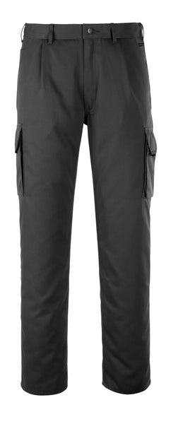 Service trousers with thigh pockets, Black, Leg length 90 cm Waist size 90 cm,  65% polyester 35% cotton