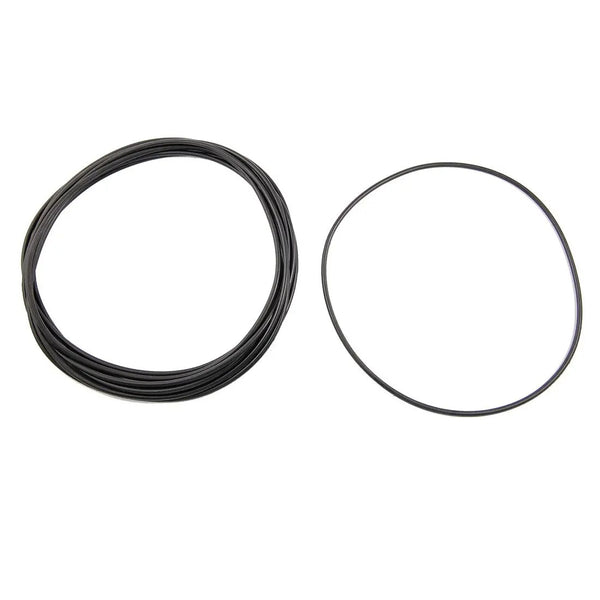 Black Nitrile Rubber O Ring Grommets Seal 149 x 155 x 3 mm - set of 10