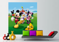 AG Design Disney Mickey Mouse Friends 2 Part Photo Mural Wallpaper Children's Room, Multi-Colour, 180 x 202 cm