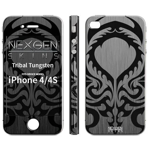 Nexgen Skins IP40034 - Apple iPhone 4 / 4S skin, 3D tribal
