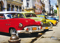 AG DESIGN Cuban Cars Photo Mural Wallpaper, Multi-Colour, 160 x 115 cm