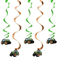 Creative Party Tractor hanging decoration (5 per pack)