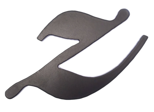 Letter Z - black metal - 120 x 3 mm
