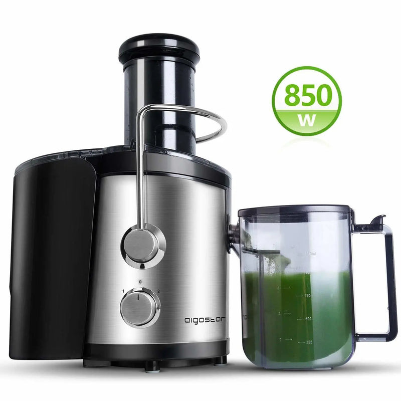 Aigostar MyFrappe 30IMX Juicer, 850W black, stainless steel body
