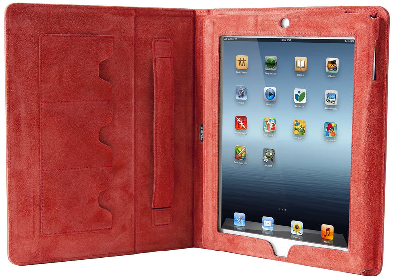 Time LPR002VR Case for iPad in Patent leather, Red